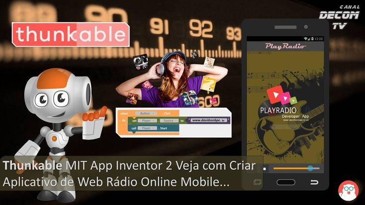Com este tutorial vamos Aprender a Criar Aplicativo de Web Rádio Online Mobile com Thunkable MIT App Inventor 2.    Componentes:   Link do ...