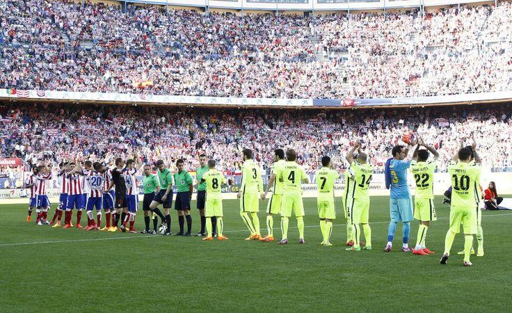 Atlético-Barcelona en imágenes