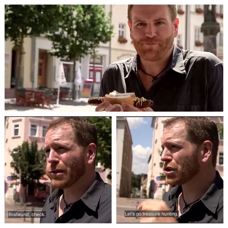 Josh Gates on the hunt for the Amber Room in Auerswalde, Germany. Expedition Unknown, World's 8th Wonder