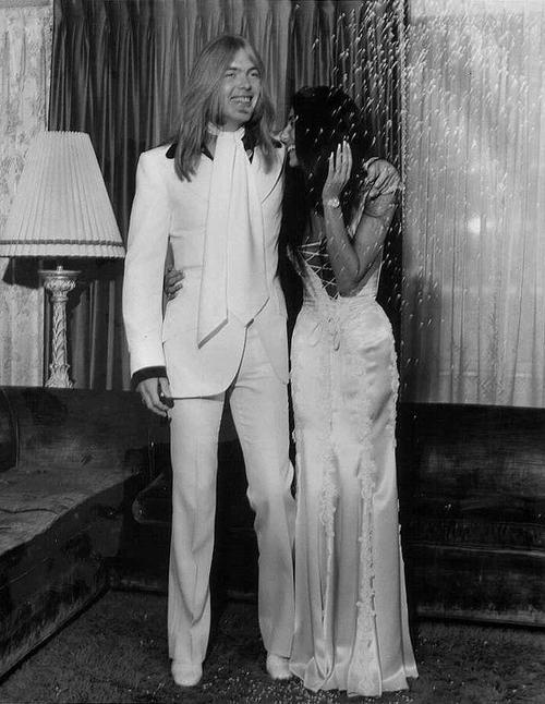 CHER and Greg Allman, June 30, A975 #adelineweddings #marriage #love