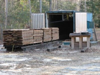Drying Wood in a Shipping-Container Kiln