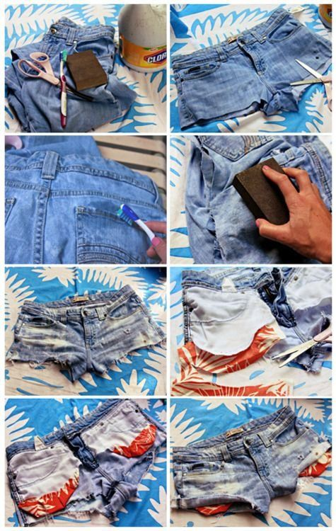 How to make cute cut off shorts!! ♥Repin and follow♥