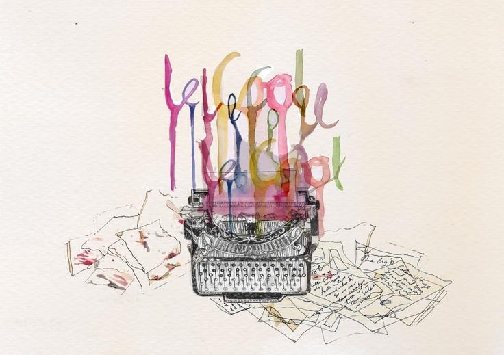 : Illustrations En, Illustration Graphisme, Typewriters