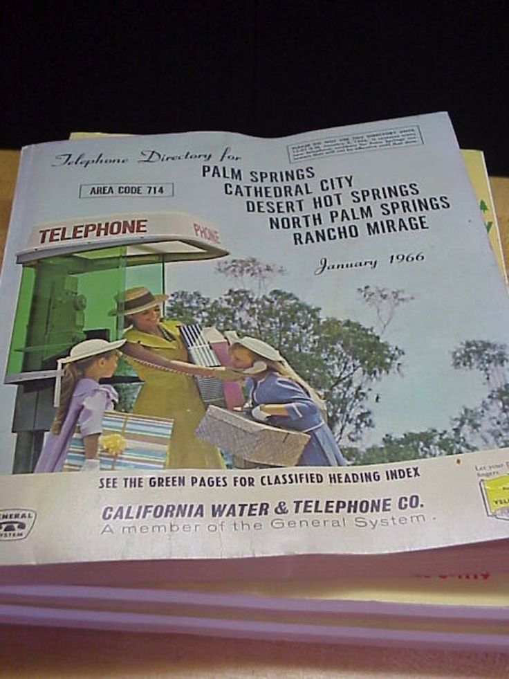 1966 Telphone Directory Palm Springs Cathedral City