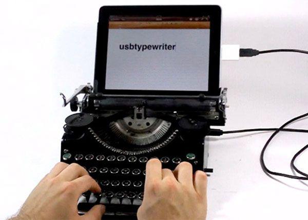 iPad USB Typewriter ModGeek Stuff, Typewriters Ipad, Gift Ideas, Cases Mod, Ipad Keyboard, Ipad Typewriters, Usbtypewrit, Amazing Ipad Cases, Usb Typewriters