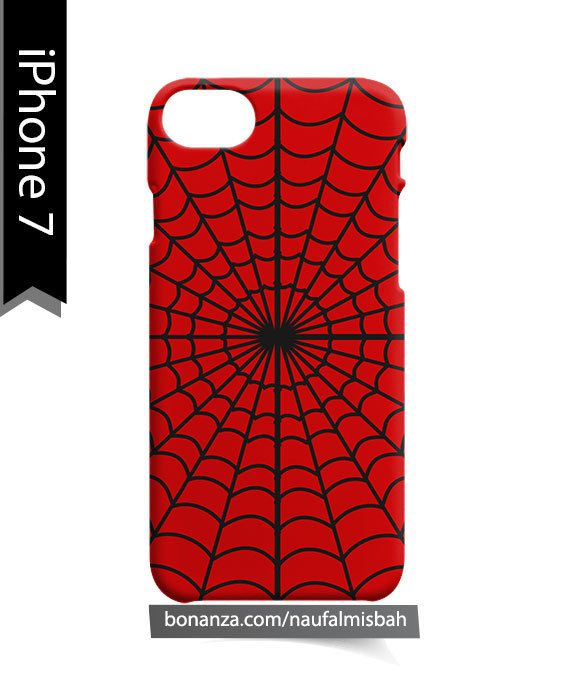 Spiderman Web Marvel iPhone 7 Case Cover Wrap Around