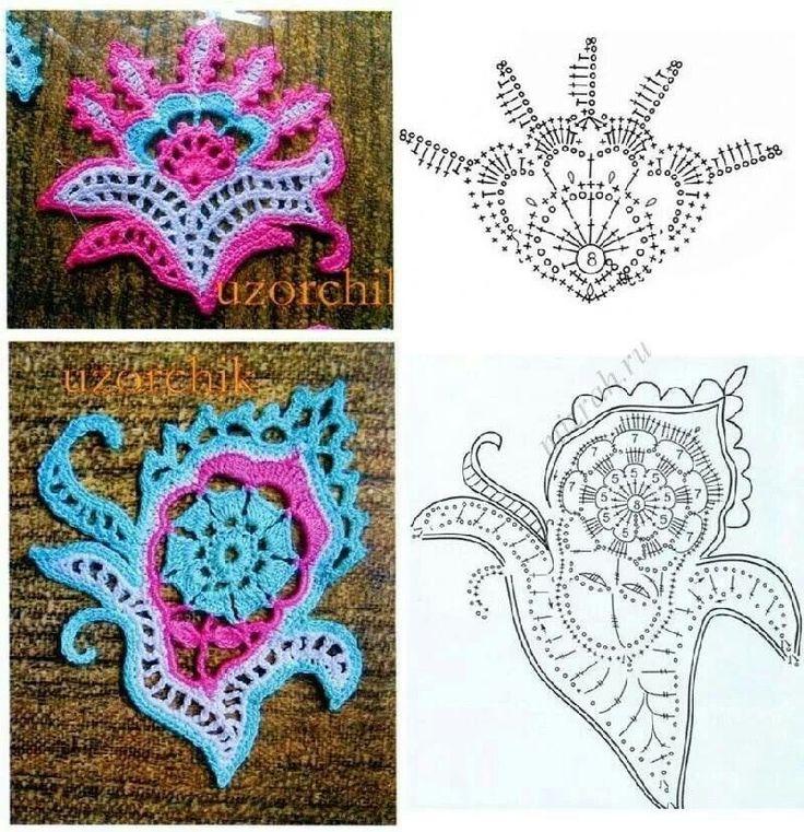 Crochet pattern, Fantasy Flowers Just lovely.