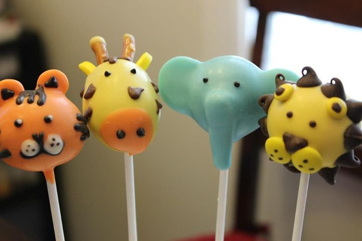 safari cake pops and cake for baby shower - Google Search