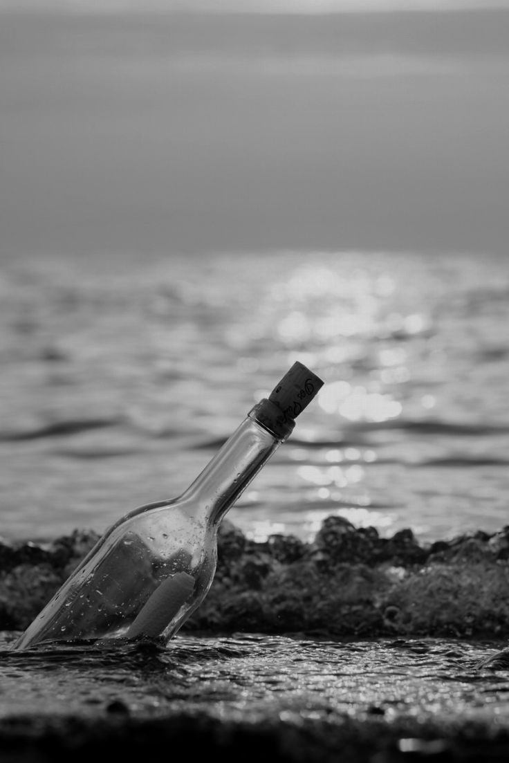 He had lost all hope Till he found it The words that described the rarest emotion of a lover   In a bottle Riding in the shallow waves  That was all he needed to keep living in this odd world To understand  That this world was still beautiful Even if it was from  A message in a bottle-Banna