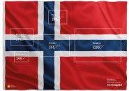Linha Aérea da Noruega usa bandeira do país para divulgar destinos em promoção