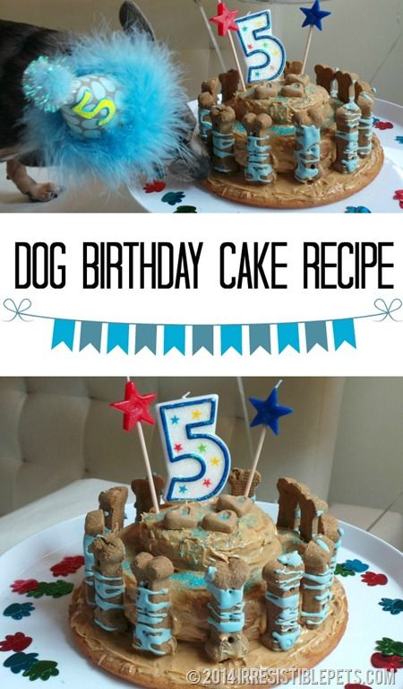 Dog Birthday Cake Recipe by IrresistiblePets.com