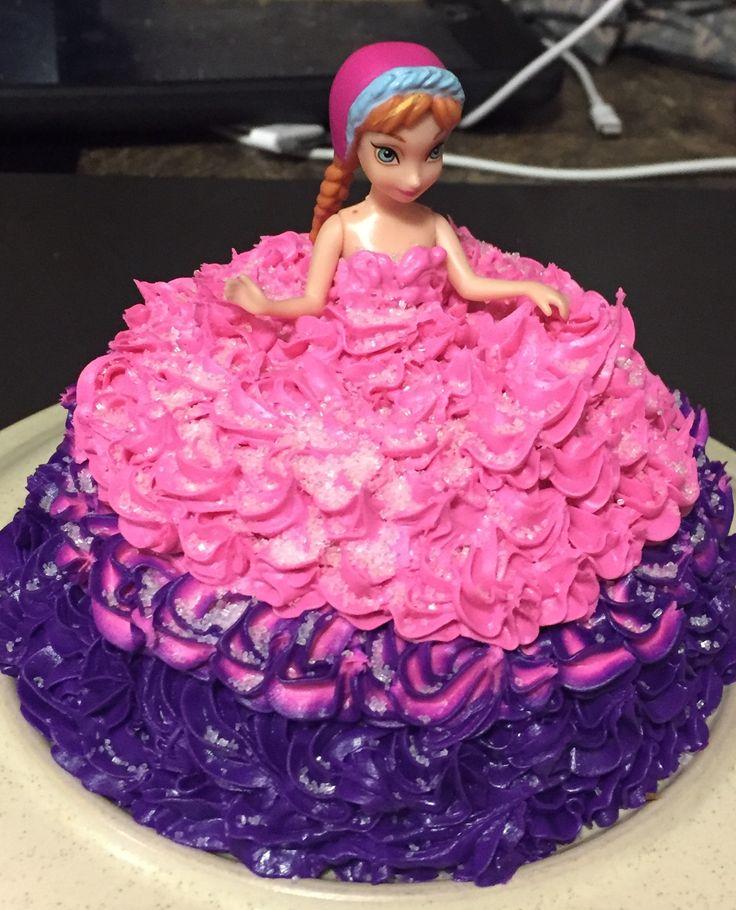 about Frozen Doll Cake on Pinterest  Anna cake, Anna frozen cake ...