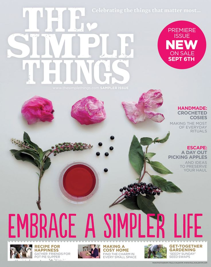 yup a new print magazine. As the title suggests, it's all about finding pleasure in the simple, no-cost or low-cost life and not taking for granted the people and things that are around us.