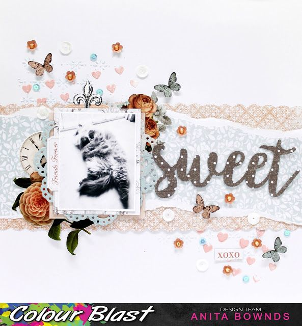 Neat and Crafty: Sweet Layout | Colour Blast