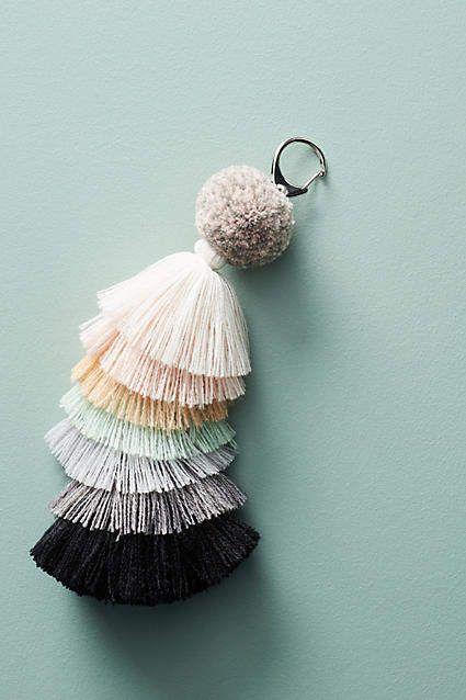 Cute Bag Charm! Verloop Tiered Tassel Keychain #anthropologie #anthrofave #anthrohome #keychain #accessory #giftsforher #ad