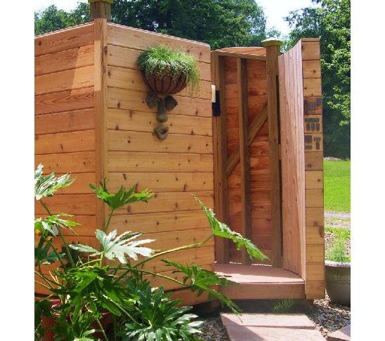 Outside Shower Ideas Backyards Diy
