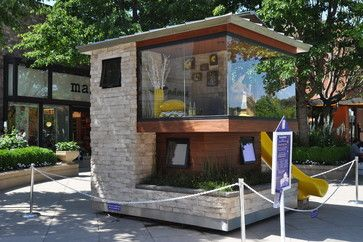"2013 Dreams Happen Playhouse - ""Modern Point Of View"" built for charity auction - looks like a small  modern home..."
