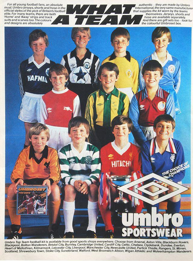 Umbro football kits 1979