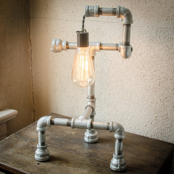 Lighting Basement Washroom Stairs: 18 Best Pipe Lamps Images On Pinterest