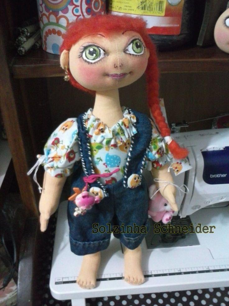 GINGER Fazendo bonecas de pano que ficam em pé sem suporte! (trabalho co...