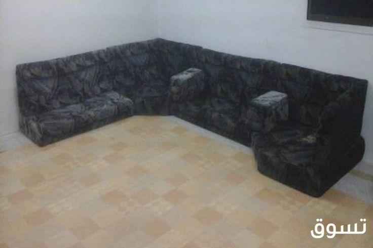 فرصة بـ 400 ريال فقط للبيع مجلس باطرمة مع تلفزيون الحالة مستخدم قسم الأثاث Furniture Sectional Couch Home Decor
