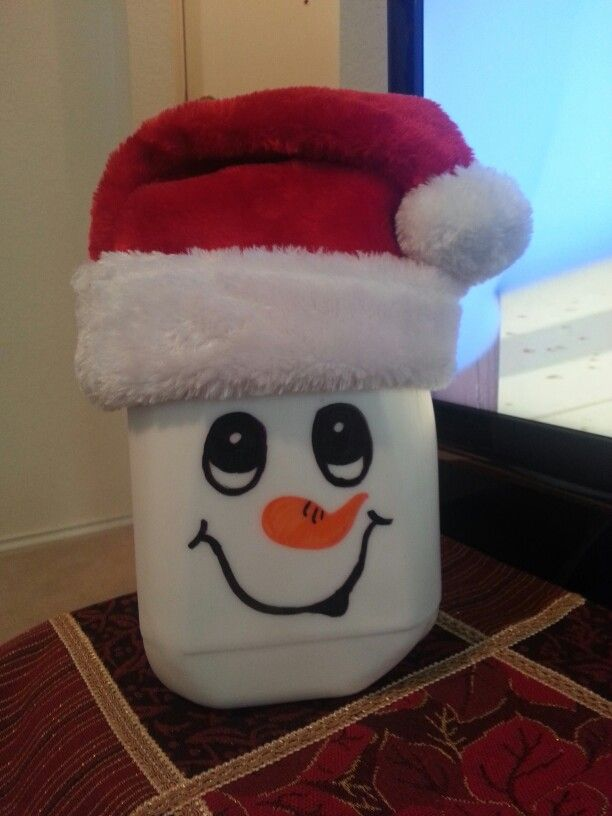 54 best winter christmas milk carton crafts images on for Christmas crafts with milk jugs