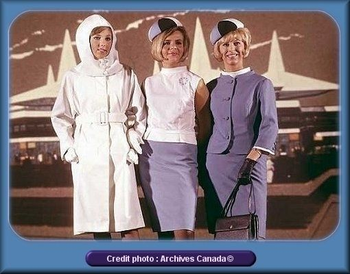 Expo 67 hostesses: classy uniforms