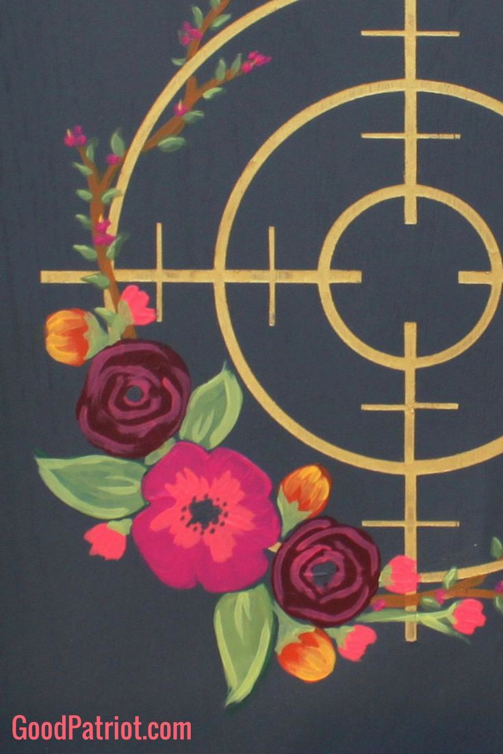 Women's gun decor - ladies gun art - wall decor - 2nd Amendment - Second Amendment - for women. Floral Scope framed in rustic wood - you've got to see it!