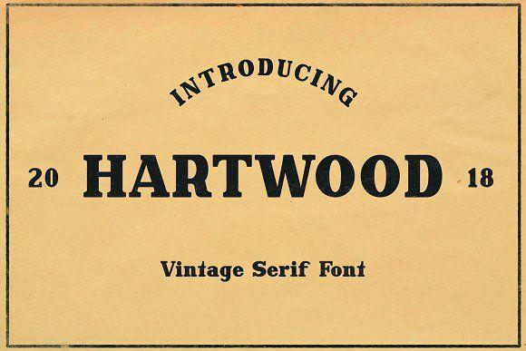 Hartwood - Vintage Header Font by Bart Wesolek on @creativemarket