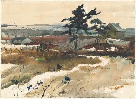 Brandywine Valley - 1940 - watercolor on wove paper - Andrew Wyeth
