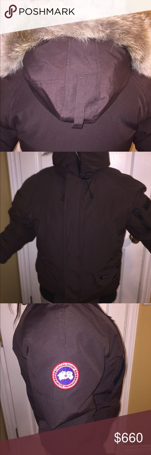 AUTHENTIC CANADA GOODE JACKET. ONLY USED ONCE. I bought it in Montreal for my brother's birthday, he ended up going to the south for school. So now it's been sitting in my closet ever sense. It's in perfect condition. Canada Goose Jackets & Coats