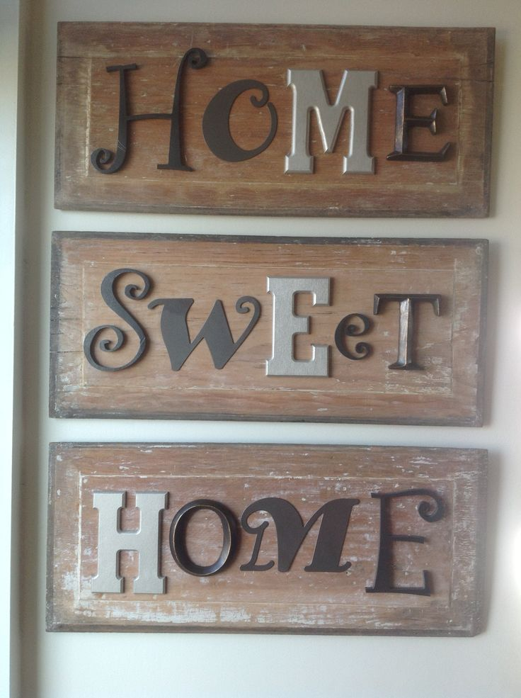 I Used Salvaged Cabinet Door Inserts And Attached Spray Painted Metallic  Letters In Different Fonts! Part 73