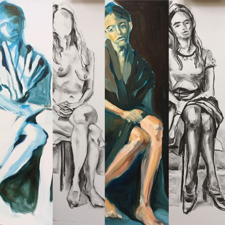 Model painting 4x, Esther Eggink