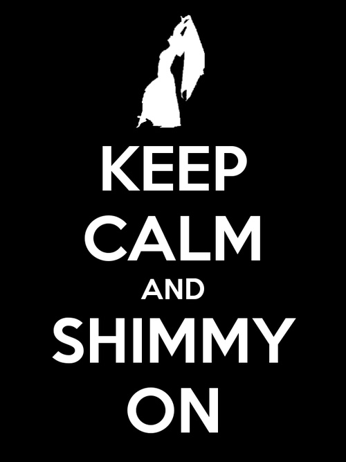 Keep calm and shimmy on. I think it's impossible lol
