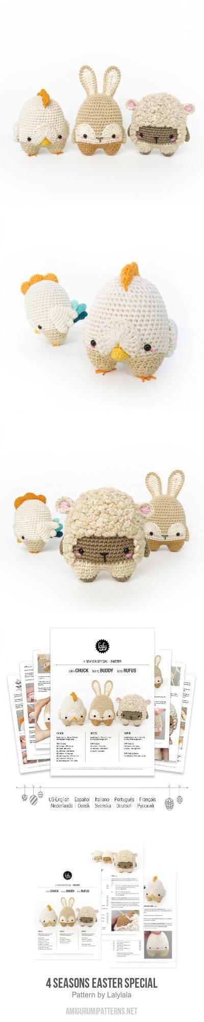 4 seasons Easter special amigurumi pattern
