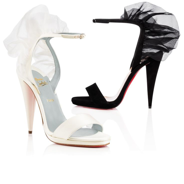 Christian Louboutin Australia Official Online Boutique - Jacqueline De 120  VERSION OFF WHITE Crepe satin/Satin/Lurex available online.