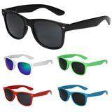 Nerd Sonnenbrille im Wayfarer Stil Retro Brille - 45 verschiedene Farben/Modelle wählbar