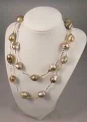 Lavender Baroque Pearl Necklace