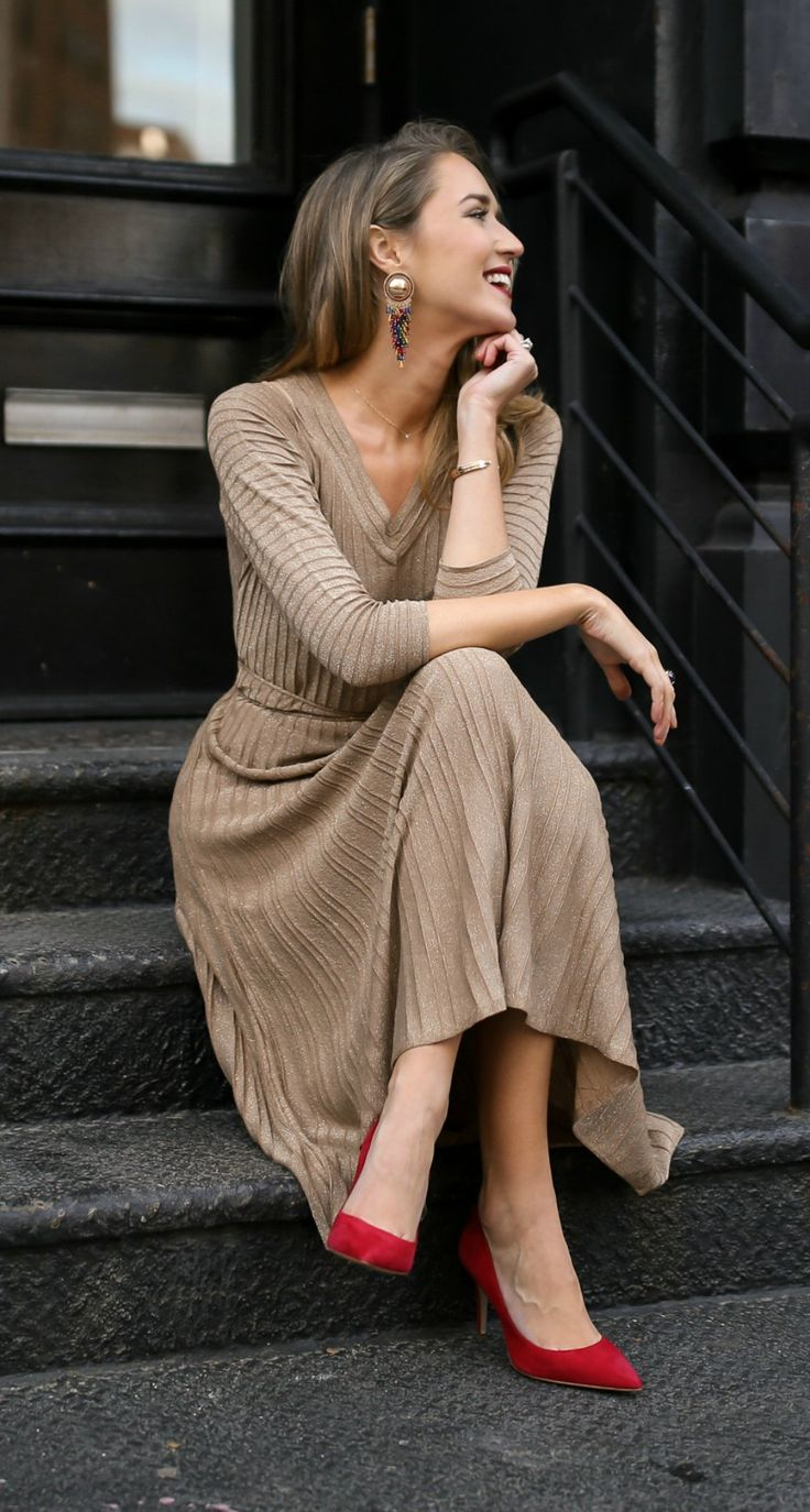 I love this knit dress!