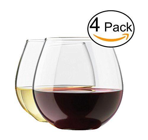 Stemless Wine Glass Set, 4-Pack, 15 Ounce Wine Tumbler Set, Shatter- Resistant High-Quality Glass Royal http://www.amazon.com/dp/B00NAQ8TZO/ref=cm_sw_r_pi_dp_cq5Svb0MYZAGP