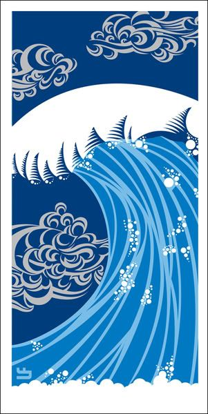OMG Posters! » Archive » Wave Art Print by Lee Fenyves