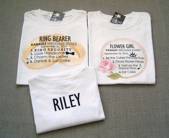 Wedding Gifts For Ring Bearer : Ring Bearer and Flower Girl Personalized by TheKnottedPalm gifts ...