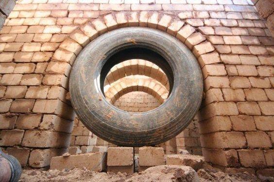 Arche construit grâce à un pneu | www.chokran.c.la images insolites et drôles