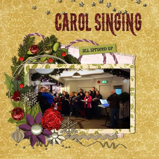 Operatic Society Carol Singing!, a project by Siobhan Sands - Peppermint Creative Hollyberry Christmas and a few embellishments from Daisytrail digikits. #scrapbooking