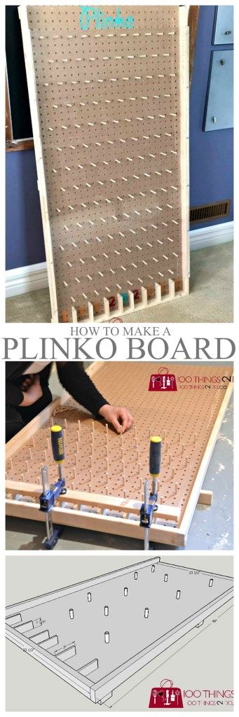 How to make a Plinko board More