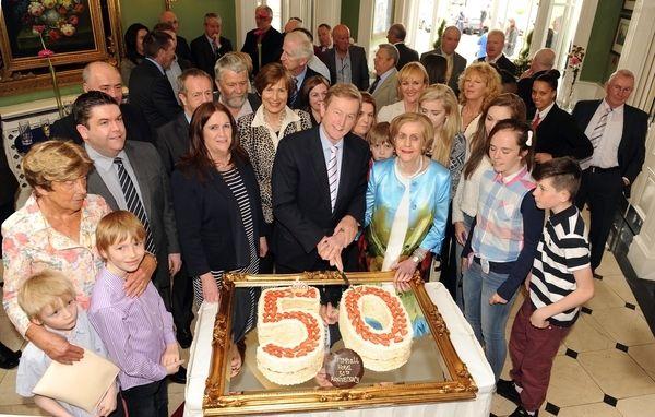 An Taoiseach Enda Kenny with Dromhall founder Kay Randles