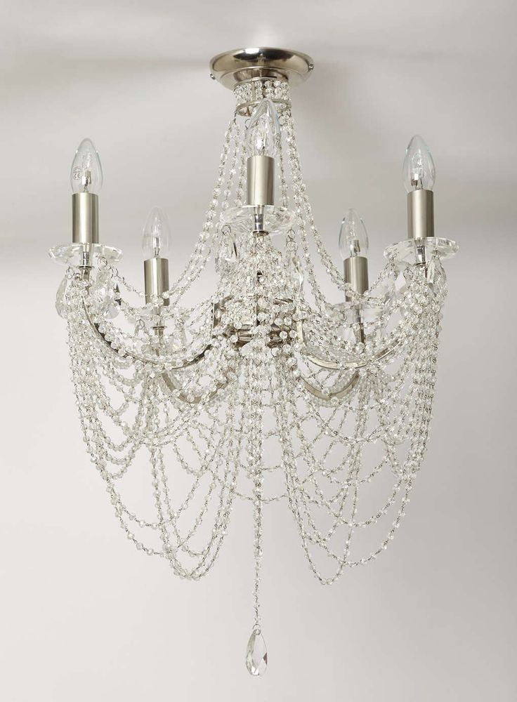 Chrome Hebe Flush Chandelier