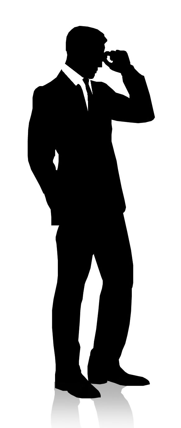 Man In Suit And Hat Silhouette Man Silhouette