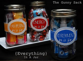 Yankee Swap idea-I wish I had more than a few hours, this is a great anyone gift---office, teachers, neighbors, yankee swap---and endless possibilities.  I personally would like naughty or nice in a jar!