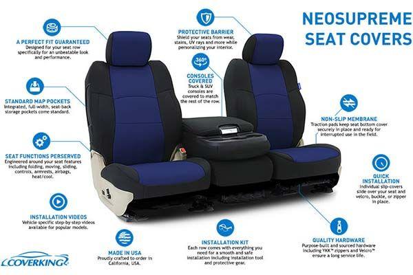 Coverking Neosupreme Seat Covers Neoprene Custom Seat Covers Autoanything Custom Fit Seat Covers Seat Covers Custom Seat Covers